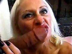 Blonde Old Granny Tart In Fishnets Fucks