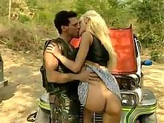 Blonde Anita Blond Out Door Sex