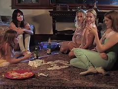 Beautiful Mature Lesbian Seduces Teen Sydnee & Sarah