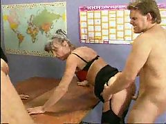 German Grann Porn Sex School