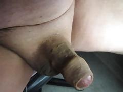 68 Yrold Grandpa #142 Mature Cum Close Closeup Wank Uncut