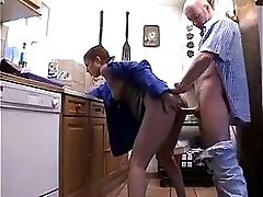 Hot Girl N 67 French Brunette Teen In A Kitchen