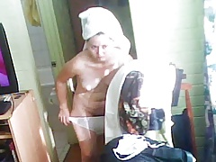Hidden cam milf naked after shower lot of stills