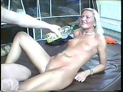 Blonde German Amateur Oiled Fuck! Snc