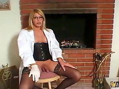 Blonde Shemale Milf In Red