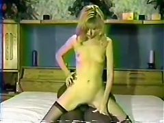 Amateur Retro Blonde Wife On Black Cock