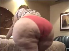 Mature Huge Butt BBW Granny Ready Ass Licking & Doggy