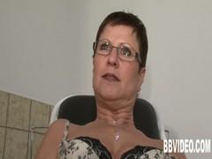 German milf masturbating her pussy