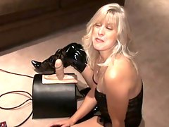 Blonde Milf Rides a Sybian