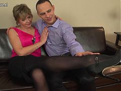 Horny mature mother fucks not her son