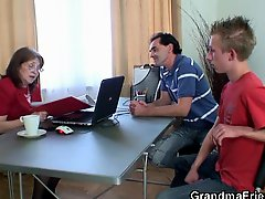 Granny Fucked By Two Jobless Guys