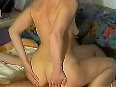 Short hair mature enjoys a good fuck