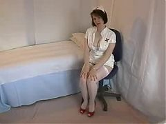 Nurse With Nice Gams Flases Her Panties