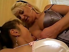Horny Older Blonde Dives Face First Into Young Asians Pussy