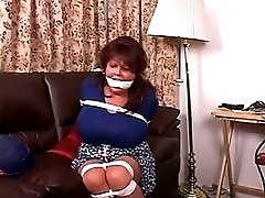 Bitch boss tied up gagged