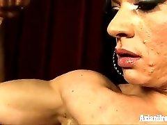 Ripped Vixen Having A Sybian Vibrating Orgasm