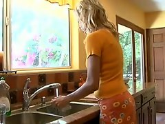 Blonde Milf in the kitchen