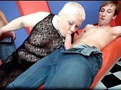 Horny big boobed fat chubby busty blonde slut doctor lu