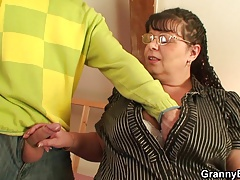 Busty old women picked up for cock riding