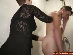 Ugly Dutch Granny Fucks Office Boy