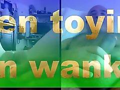 Teen toying man wanking