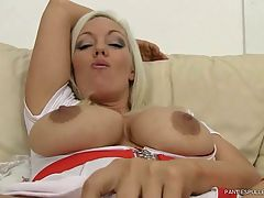 Slutty milf nurse Rachel Travers fucks herself