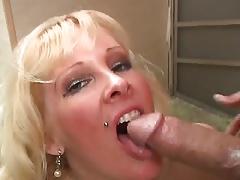 Classy Tattoo Blonde Milf Loves Her Boyfriend's Cock!