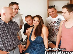 Big Bazonga Blow Bang Brunette MILF