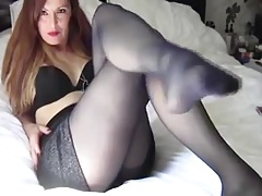 Mature Woman In Black Stockings