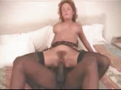 Hot amateur mature woman with a great hairy pussy fucking her black boyfriend