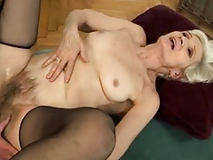 Granny Banged In Her Hairy Old Twat