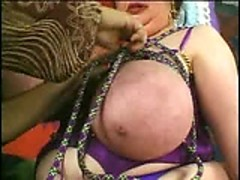 Mature rope giant tits