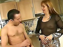 French cougar takes it in the butt