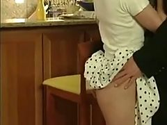 German Blonde Fucking Older Man