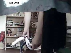 Mom home alone masturbating finally caught by my hidden cam