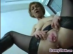 Dirty Granny Gets A Creampie