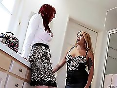 Mena Mason And Lauren Phillips Share A Cock
