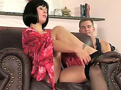 Horny milf with young repairman fuck
