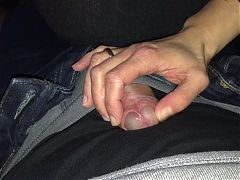 Milf Handjob Surprise Foreskin Play No Cum
