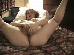 Nympho Horny Fat Chubby Teen Masturbating In Her Hotel Room