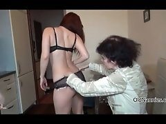 Nasty Old Woman Gets Horny Taking Her Clothes Off By Ol