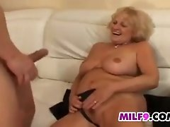 Mature blonde european woman