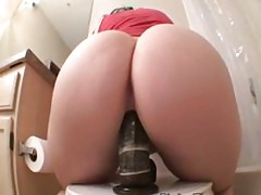 Girl rides dildo like a pro see more at girlcam org