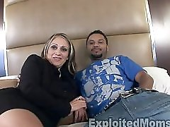 Older Mature Latina Mom in Amateur Interracial Video