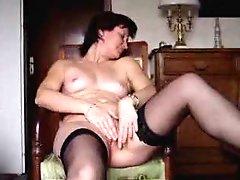 Angie 40 masturbating and cumming 3 times