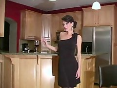 Skinny milf in black dress JOI