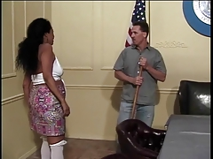 B Cup Black Chick Gives Toned Dude Long Wet Blowjob And Gets Fucked