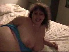 BBW woman playing with dildo