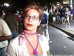 Flashing for fun public milf street outdoors real amateur