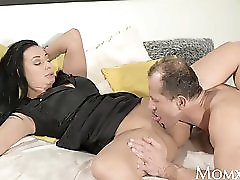 MOM Squirts as he fingers her g spot